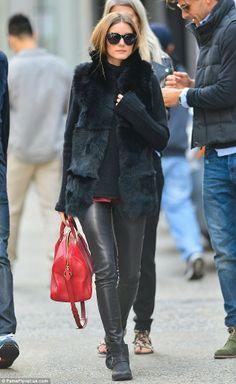 Black Fur Vest #oliviapalermo