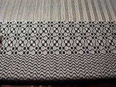 """Trellis"" 4 -shaft overshot from Weaving Designs by Bertha Gray Hayes."