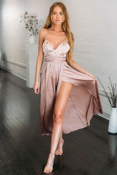 Secret Royal Maxi Dress Bronze