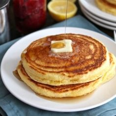 Lemon Cornmeal Pancakes