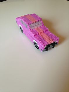 3D Car perler beads by favicon - Pattern: http://www.pinterest.com/pin/374291419003545804/