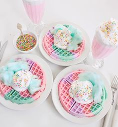 cotton candy waffles