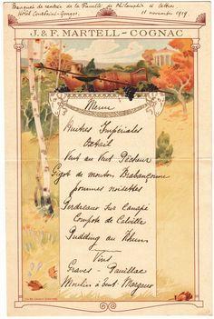 Menu, 11-11-1919 #Booktower
