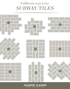 9 Different Ways To Lay Subway Tiles