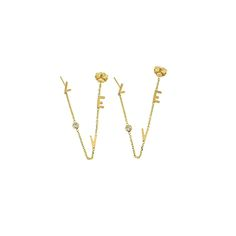 love chain earrings — barbedwire - Shop Cult Jewelry Designers