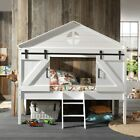 Versatile mid sleeper cabin bed with a Chest of Drawers, Cabinet, Bookshelf and Desk. Featuring an angled ladder that can be positioned to the left or right. Cool Kids Bedrooms, Big Girl Bedrooms, Mid Sleeper Cabin Bed, Unique Kids Beds, Playhouse Bed, Barn Style Doors, Kid Desk, Kids Bedroom Furniture, Built In Desk