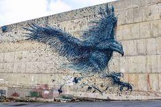 Un aigle en street art