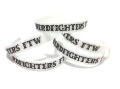 Nerdfighters FTW Glowinthedark Silicone by MidnightHouseElves, $5.00