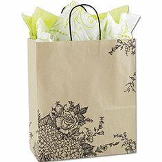 Rose Hydrangea Shoppers, 13 x 6 x 15 1/2, Mini Pack $16.00/25