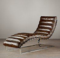 Oviedo Leather Chaise- RH.  Not a huge fan of the aesthetics, but the leather is scrumptious and it's heaven for my back.