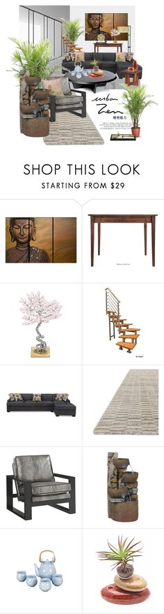 """Urban Zen"" by bb60477 ❤ liked on Polyvore featuring interior, interiors, interior design, home, home decor, interior decorating and Lexington"