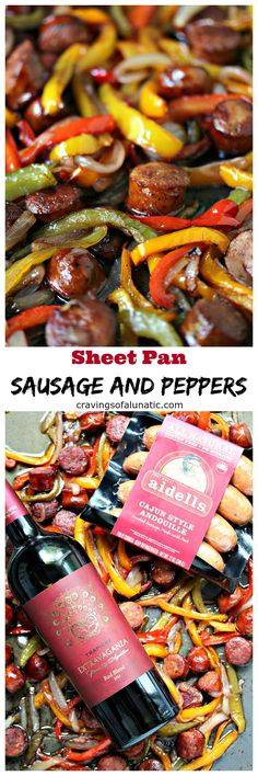 Sheet Pan Sausage and Peppers from cravingsofalunatic.com- This recipe is simple to make yet full of flavour. It's perfect to eat on its own, or pile it high on a hoagie bun. One pan, a few simple ingredients, and you have the perfect lunch or dinner recipe.