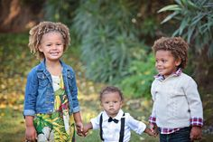 Kelsey, the mother of these three gorgeous curly cuties, sent us an awesome testimonial about how she loves Mixed Chicks!