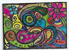 ACEO - A Trip to Fantastic Colorland #aceo #zibbet