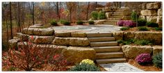 Minnesota Boulder Retaining Walls from Boulder Images Incorporated.