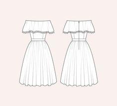 Dress Design Sketches, Fashion Design Sketchbook, Fashion Design Drawings, Fashion Sketches, Fashion Drawing Dresses, Fashion Illustration Dresses, Drawing Fashion, Dress Fashion, Fashion Outfits