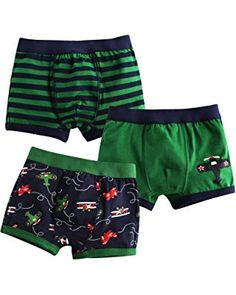 Jojobaby Baby Toddler Kids 2T-7T Boys Boxer Brief 3-pack Underwear Set  Toddler c188ea3ad
