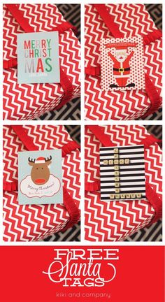 Free Printable Santa Tags from kiki and company for Eighteen25.com