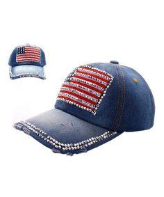 79118b79f2664d Ladies US Flag Denim Jean Campagne Bling Ajustable Baseball Cap Cowboy Hat  Blue CB11MKQWIEF