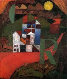 Paul Klee, Villa R, 1919. Oil on wood. German Expressionism - Der Blaue Reiter.