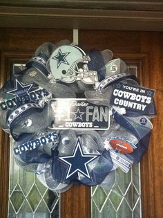 Dallas Cowboys Deco Mesh Wreath  by SissyGirlsCreations on Etsy, $65.00