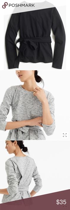 NWT J. Crew Black Belted Crossback Top Brand: J. Crew Color: Black Condition: New With Tags Product Details: The literal definition of 'wear-with-anything'—this crossback, belted top is as flattering as it is versatile. Size Type: Regular Size (Women's): Small J. Crew Tops