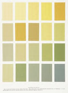 Interior Paint Colours From The Book U0027Home Building And Decorationu0027 1903