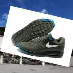 fea3d5e98bf5b Sneakers Nike Air Max 1 Hyperfuse Men Slategrijs HOT SALE! HOT PRICE!
