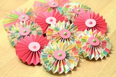 Handmade Paper Rosettes by PinkdotsCreate on Etsy, $12.99