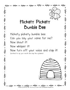 Hickety Pickety Bumble Bee