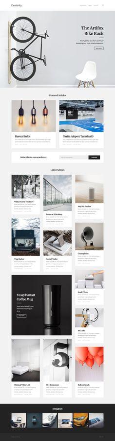 Dexterity Concept Blog Website