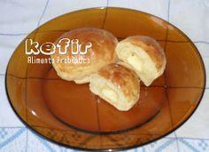 KEFIR - Alimento Probiótico : RECEITA: PÃO DE MANDIOQUINHA COM KEFIR DE LEITE Kombucha, Kefir Recipes, My Recipes, Healthy Recipes, Fermented Foods, Food And Drink, Low Carb, Banana, Bread