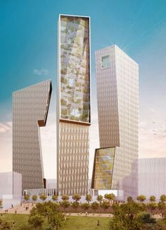 Tor di Valle 3 - The Skyscraper Center Architecture Board, Unique Architecture, Futuristic Architecture, Amazing Buildings, Modern Buildings, 3d Architectural Rendering, Fantasy City, High Rise Building, Commercial Architecture