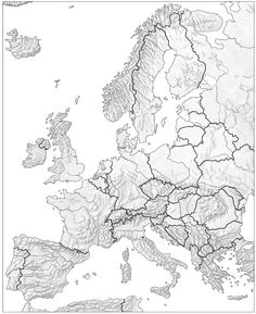 Mapa Mudo Rios Europa Blanco Y Negro.Las 7 Mejores Imagenes De Mapa Fisico De Europa Mapa