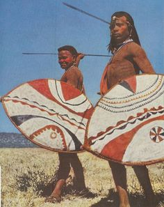 Maasai men [source: Vintage National Geographic Scans]
