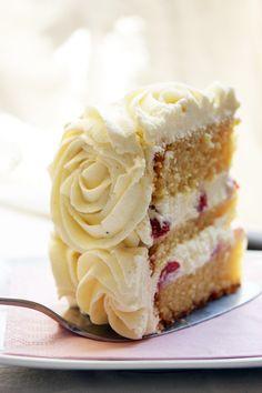 Strawberry Rose Cake - Lactose Free!