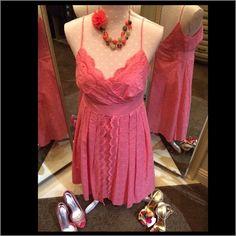 Willow Glenn Pink Scalloped Pleated Dress Willow Glenn Pink Scalloped Pleated Dress Willow Glenn Dresses