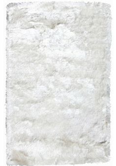 Crystal Solid White Rug modern rugs
