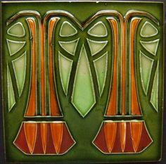 Art Nouveau Tile ~ West Side Art Tiles - 4978n349p0> http://www.westsidearttiles.com/German/pages/4978n349p0.htm#
