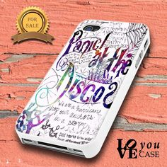 Panic At The Disco Lyric Quotes Design  for iphone, ipod, samsung galaxy, HTC and Nexus PHONE CASE