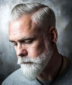 Glorious Hairstyles for Men With Grey Hair (a. Silver Foxes) 15 Glorious Hairstyles for Men With Grey Hair (a. Silver Glorious Hairstyles for Men With Grey Hair (a. Beard Styles For Men, Hair And Beard Styles, Short Hair Styles, Beards And Hair, Medium Beard Styles, Men Hair, Grey Hair Beard, Men With Grey Hair, Beard Fade