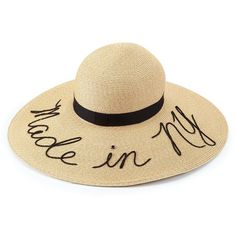 "Eugenia Kim Sunny ""Made in NY"" Sun Hat (1.445 RON) ❤ liked on Polyvore featuring accessories, hats, beige, floppy beach hat, eugenia kim, beige hat, sun hat and eugenia kim hats"