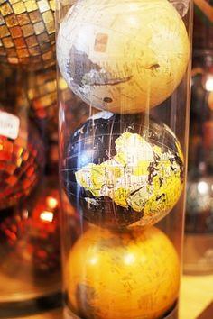 map decorative spheres