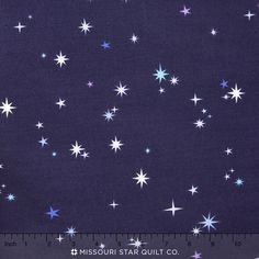 Natural History - Blue Stars Yardage - Lizzy House - Andover Fabric