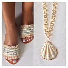 Boho Sandals, Neutral Tones, Necklaces, Chain, Wedding Necklaces