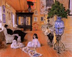 Lounge at Shinnecock by William Merrit Chase, 1893