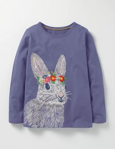 Superstitch Pet T-shirt (Dark Wisteria Purple Rabbit)