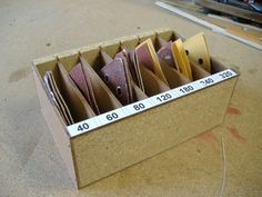 Mini project: Delta sandpaper tray building instructions to build yourself – Chief´s Projekte - DIY and crafts