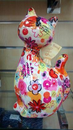 Pomme Pidou Originals Ceramic Money Bank Cat Multi | eBay