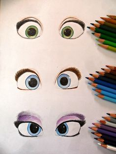 Rapunzel, Anna, and Elsa's eyes<< Wow this will be a good reference